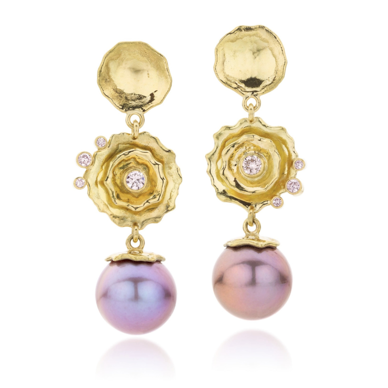 Edison pearls & pink diamonds