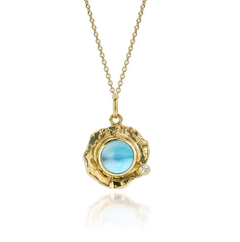 Topaz & diamond(Sold!)