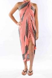Sarong zalm/pink blue antraciet