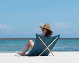 Strandstoel bleu de prusse