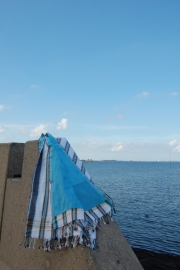Strandlaken Kikoy Marlin Blue Stripes