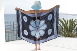 Sarong black blue