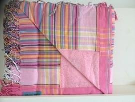 Strandlaken Kikoy Sweet Pink stripes