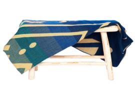 Ecuafina wollen woonplaid blauw