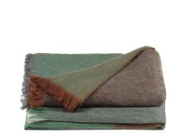 Alpaca loca wollen plaid bruin groen