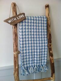 Summer Blanket blue/white