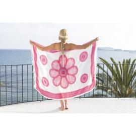 Sarong white pink