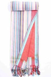 Strandlaken Kikoy Washed Red Stripes
