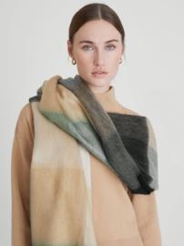 Alpaca wollen sjaal beige, mint, zwart