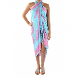 Sarong blue pink