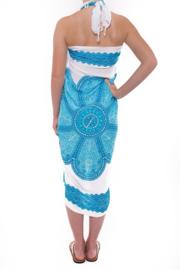 Sarong White Turquoise