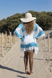 Sarong Dress White Light Blue