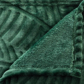 Fleeceplaid Palmmotief Groen