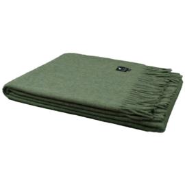 Wollen plaid groen alpacawol