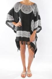 Sarong Dress black white