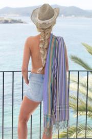 Strandlaken Kikoy Pastel lila Stripes