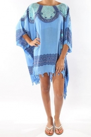 Sarong Dress blue