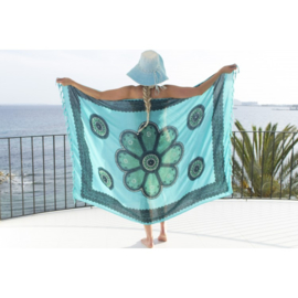 Sarong turquoise seagreen