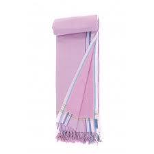 Strandlaken Kikoy Powder Pink/Lila
