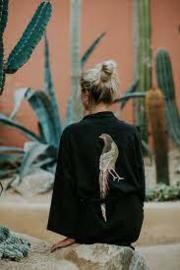 The pheasant in black