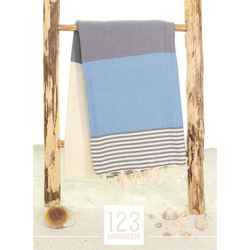 123 Hamamdoek Marine Jeansblauw