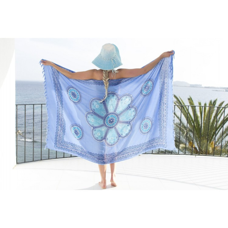 Sarong blue turquoise blue