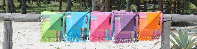 Kikoy strandlakens met badstof Simone et Georges