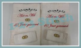 Handdoeken voor een speciale datum