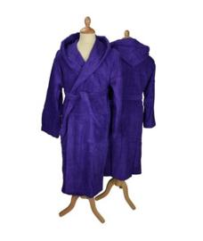 Badstof badjas met capuchon Purple
