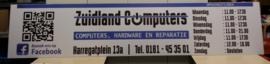 Reclamebord voor Zuidland Computers