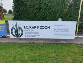 Reclamebord voor T.C. Kap & zoon Oudenhoorn