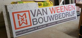 Reclamebord Van Weenen Bouwbedrijf