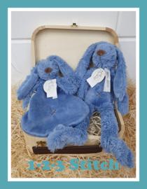 Houten koffertje Rabbit Richie Deep Blue pakket