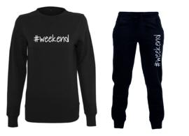 """Sweater met joggingsbroek """"#weekend"""""""
