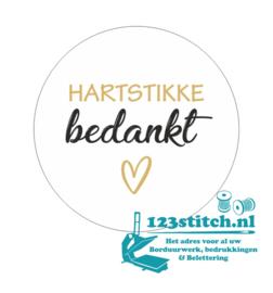 Sticker Hartstikke bedankt