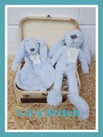 Houten koffertje Rabbit Richie Blue pakket