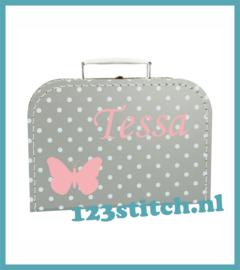 Kinderkoffertje vlinder met naam