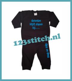Baby pyjama - ..... blijft slapen bij Opa en Oma
