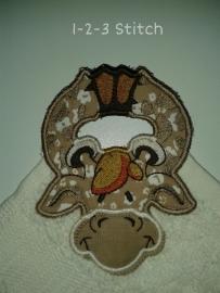 Handdoek hanger Giraf