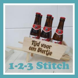 Bier kruiwagen met naam-/ of tekst