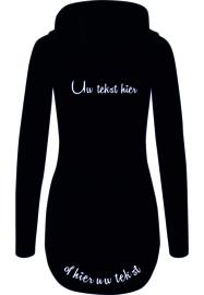 Ladies athletic zip hoody met eigen tekst