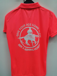 Polo met opdruk: Give your ass some class, ride a reining horse