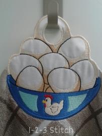 Keukendoek Schaal eieren