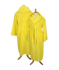 Badstof badjas met capuchon Yellow