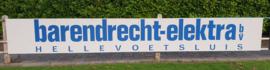 Reclamebord voor Barendrecht-elektra Hellevoetsluis