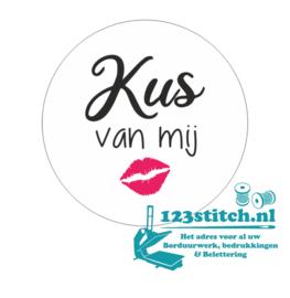 Sticker Kus van mij