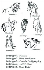 Gepersonaliseerd fleecevest met paard en naam.