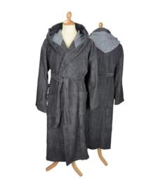 Badstof badjas met capuchon Graphite\Anthracite Grey