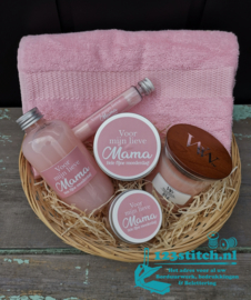 Moederdag badpakket groot roze