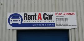 Reclamebord voor Rent a Car Hellevoetsluis
